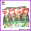 la forma del corazón de embarcaciones de frutas lollipop