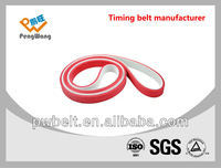 8mm red rubber coated top flexibility steel core seamless pu timing belt s3m