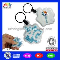 pvc mini led light keychain