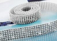 120cmX45cm Hotfix rhinestone trimming mesh hot fix film backing