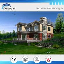 Luxury modern steel economic prefab house villa