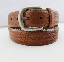 2014 factory customized design man split leather belt,with fashion and simple design