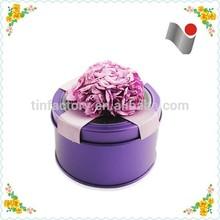 Beautiful round coin storage tin box