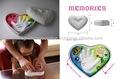 Japonés de productos de arcilla en forma de corazón lata para baby handprint( boy/chica)