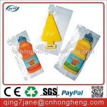 Bottle shape Paper Car Air Freshener for promotion