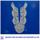 YJC15313-1 lace manufacturer embroidery lace applique fancy neck designs for blouses