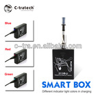 2013 newest variable voltage electronic cigarette smart box digital e-cig with clear atomizer
