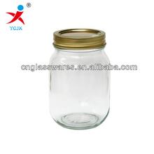 GLASS JAR WITH SCREW TOP LID