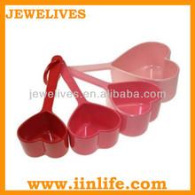 Silicone mini sugar heart shaped measuring spoon