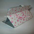 Hello Kitty Cat Leather Stand Cute Case Cover Skin For iPad Mini, White Pink Cute Case For iPad Mini
