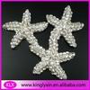 30mm Starfish Clear Rhinestone Embellishment for invitation LXG21