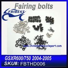 For SUZUKI GSX-R600 GSXR 750 04-05 2004 2005 GSXR 600 Complete Full Fairing Bolt Kit FBTHD006