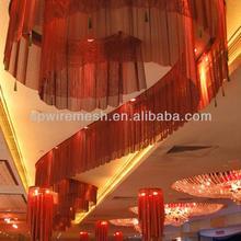 restaurant and hotel interior metallic blackout curtain