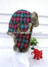 fashion and classic children rabbit fur hat