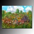 Printemps peint à la main paysage belle fleur paysage peintures à l'huile pour décoration