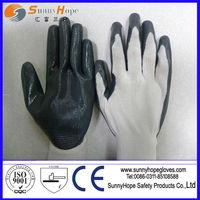 nylon liner nitrile palm dipped gloves