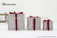 2014 Garden square gift box shape hanging LED string lights