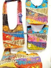 Pink teenager shoulder sling bags tribal bohemian crossbody colourful handbags