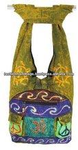 Ethnic Embroidered Tie Dye Bag, canvas Hippie bag, cottton Nepali razor cut bag