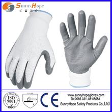 13 gauge nylon nitrile coated safety working gloves