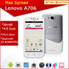 4.5'' touch screen android 4.1 dual sim phone mobile lenovo a706