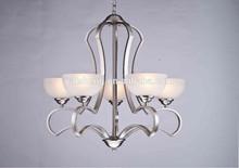5 lights Contemporary Satin Nickel Pendant light, Chandelier Light
