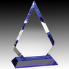 Blank Blue Steel Crystal Diamond Award