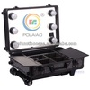 make up case lighting makeup trolley with light with mirrow makeup train case rolling makeup case