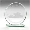 Economy Design Round Glass Trophy