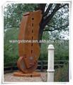 Exóticas moderna de estilo rústico corten de jardín de acero arte escultura