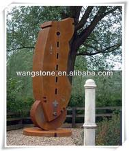Modern exotic style rustic corten steel garden art sculpture