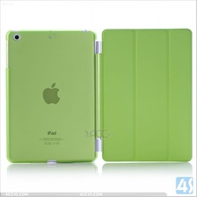 Ultra Thin Magnetic Smart leather Cover and Clear Back Case for Apple iPad mini 2
