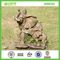 Ao ar livre figuras de animais resina decoração elefante jardim