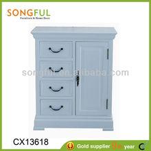 living room furniture set wooden corner cabinet,cabiet w/4 drawers + 1 door