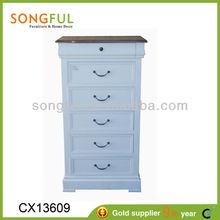 wooden storage cabinet / wooden storage chest, wooden cabinet w/6 drawers
