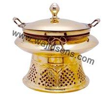 Round chafing dish in hotel & kitchen