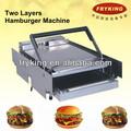 Eléctrico de acero inoxidable pan de hamburguesa tostadora/tostadora de pan