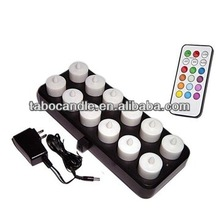 remote control flameless Rechargeable LED tea light Candle