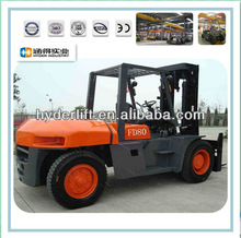8.0ton Diesel Forklift Low Price with diecast forklift truck model