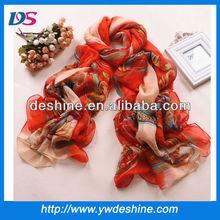 Vendita calda nuovo stile wholesale chiffon sciarpa di seta sarong pareo spiaggia pareo wj-187 grande