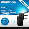 Nanfone 688D none cable connection bluetooth two way radio adaptor for Kenwood