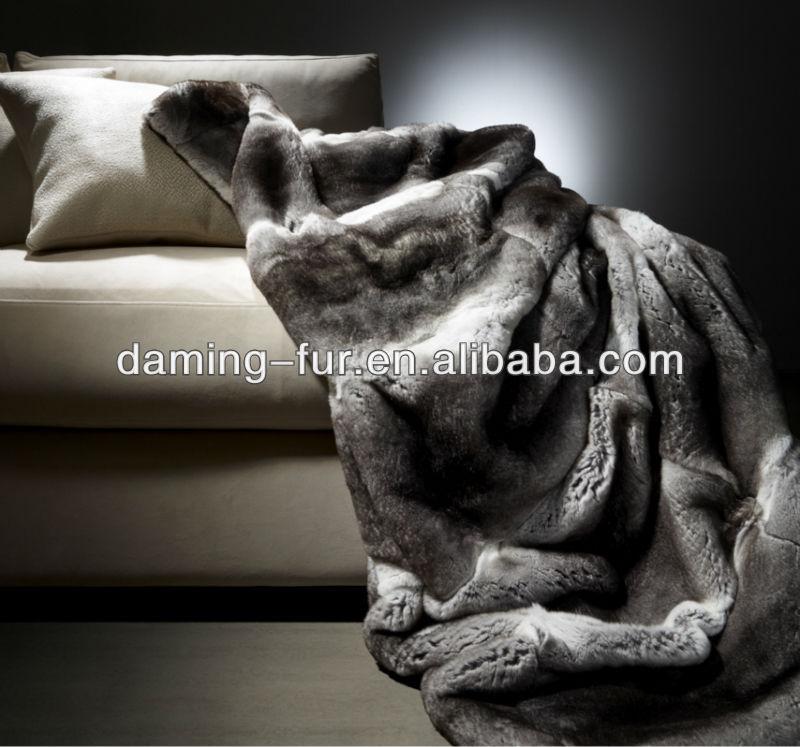 Rex Rabbit Fur Blanket Blanket Rex Rabbit Fur