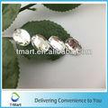 2013 bolso de la decoración de fábrica al por mayor directo de cristal ovalado piedras de coser