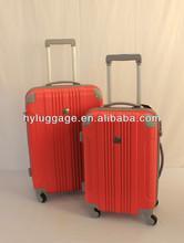 ABS + PC film luggage 360 degree rotational wheels/four wheels super light luggage