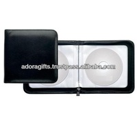 ADACD - 0022 9mm dvd case wholesale / square multi dvd holder / leather cd dvd holder cases