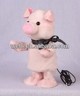 Battery operated swing body Pig with MP3 player function stuffed animal plush toy