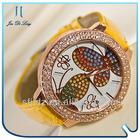 Leather Strap Butterfly Diamond Dress Women Mechanical Watches
