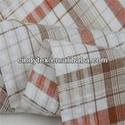 drapery soft plaid yarn dyed 100% cotton seersucker fabric