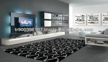 Wall Unit Modern Design Black & Glass