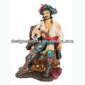 custom atacado decoração home resina pirata estatueta
